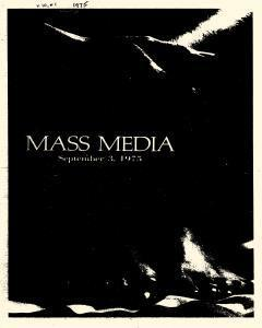 Mass Media, September 03, 1975, Page 1