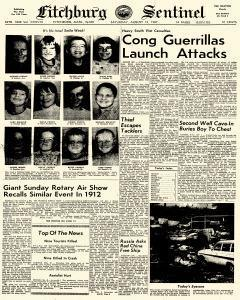 Fitchburg Sentinel, August 12, 1967, Page 1