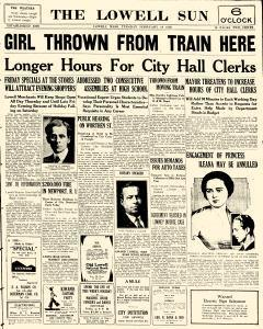 Lowell Sun, February 18, 1930, Page 1
