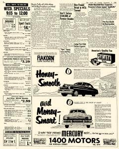 Lowell Sun, September 11, 1951, Page 3