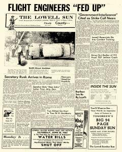 Lowell Sun, June 23, 1962, Page 1