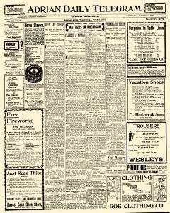 Adrian Daily Telegram, July 03, 1901, Page 1