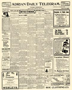 Adrian Daily Telegram, July 09, 1901, Page 1