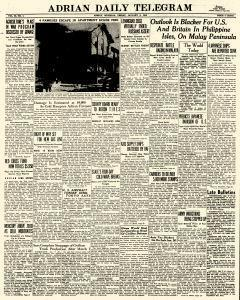 Adrian Daily Telegram, January 09, 1942, Page 1