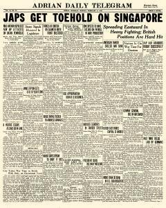 Adrian Daily Telegram, February 09, 1942, Page 1