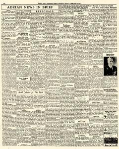 Adrian Daily Telegram, February 23, 1942, Page 6