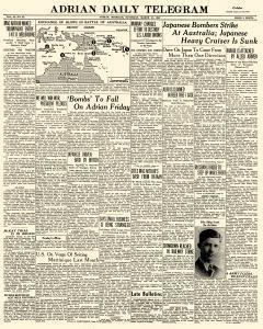 Adrian Daily Telegram, March 21, 1942, Page 1