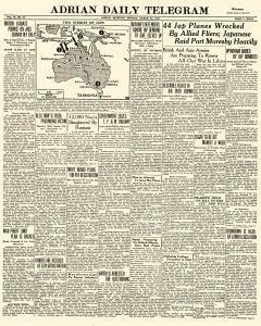 Adrian Daily Telegram, March 23, 1942, Page 1