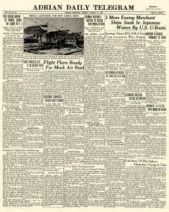 Adrian Daily Telegram, March 24, 1942, Page 1