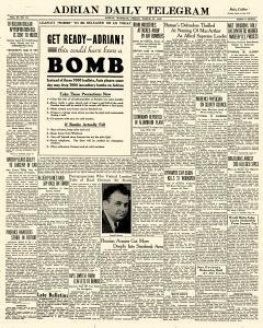 Adrian Daily Telegram, March 27, 1942, Page 1