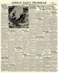 Adrian Daily Telegram, March 30, 1942, Page 1
