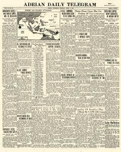 Adrian Daily Telegram, April 07, 1942, Page 1