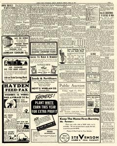Adrian Daily Telegram, April 10, 1942, Page 9
