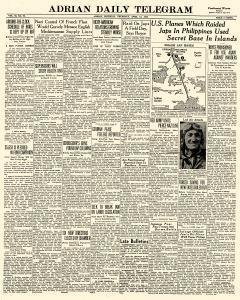 Adrian Daily Telegram, April 16, 1942, Page 1