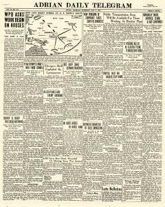 Adrian Daily Telegram, May 02, 1942, Page 1