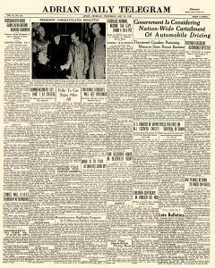Adrian Daily Telegram, May 20, 1942, Page 1