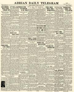 Adrian Daily Telegram, May 22, 1942, Page 1