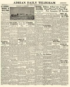Adrian Daily Telegram, May 27, 1942, Page 1