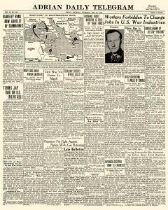 Adrian Daily Telegram, May 28, 1942, Page 1