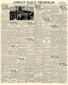 Adrian Daily Telegram, May 30, 1942, Page 1