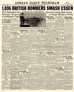 Adrian Daily Telegram, June 02, 1942, Page 1