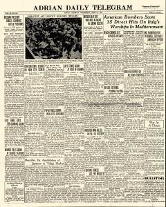 Adrian Daily Telegram, June 17, 1942, Page 1
