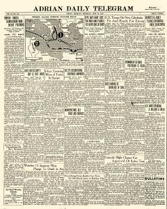 Adrian Daily Telegram, June 18, 1942, Page 1
