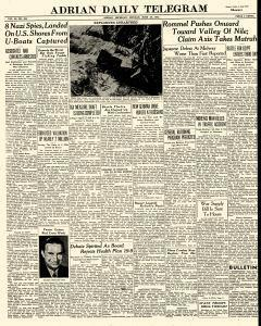 Adrian Daily Telegram, June 29, 1942, Page 1