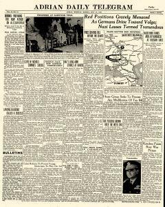 Adrian Daily Telegram, July 13, 1942, Page 1