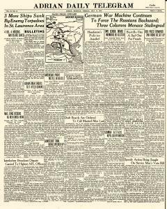 Adrian Daily Telegram, July 14, 1942, Page 1