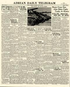 Adrian Daily Telegram, July 25, 1942, Page 1