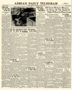 Adrian Daily Telegram, August 26, 1942, Page 1