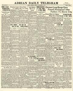 Adrian Daily Telegram, September 21, 1942, Page 1