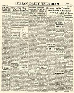 Adrian Daily Telegram, September 24, 1942, Page 1