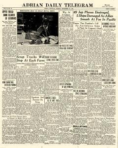 Adrian Daily Telegram, September 29, 1942, Page 1