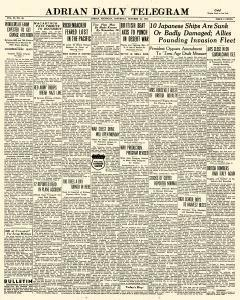 Adrian Daily Telegram, October 24, 1942, Page 1