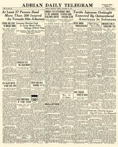Adrian Daily Telegram, October 30, 1942, Page 1