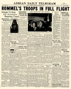 Adrian Daily Telegram, November 05, 1942, Page 1