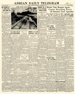Adrian Daily Telegram, November 21, 1942, Page 1