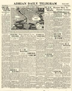 Adrian Daily Telegram, November 24, 1942, Page 1