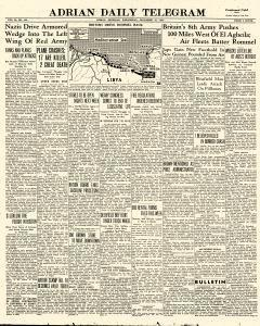 Adrian Daily Telegram, December 16, 1942, Page 1
