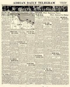Adrian Daily Telegram, December 24, 1942, Page 1