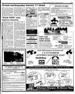 Daily Globe, June 16, 1995, Page 3
