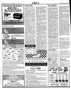 Daily Globe, October 17, 2001, Page 2