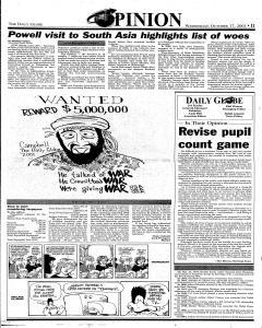 Daily Globe, October 17, 2001, Page 11