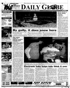 Daily Globe, December 19, 2001, Page 1