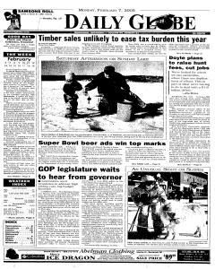 Daily Globe, February 07, 2005, Page 1