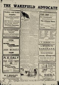Wakefield Advocate, June 09, 1917, Page 1