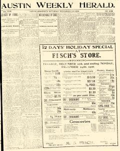Austin Weekly Herald, December 22, 1906, Page 1