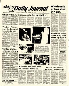 Daily Journal, December 08, 1977, Page 1